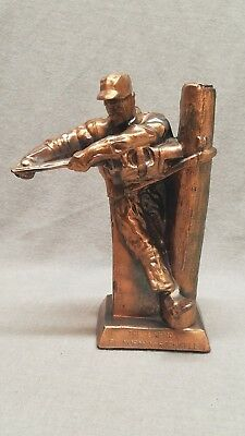 The Lineman by Norman Rockwell Rare Advertising Sculpture AT&T