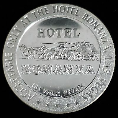 1967 Bonanza Hotel Casino $5 Sterling Silver Proof Gaming Token Chip >GTBH71
