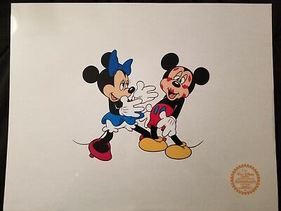 Mickey & Minnie Mickey's Surprise Party Limited Edition Serigraph Cel