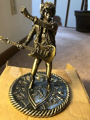 NEW IN ORIGINAL BOX!  Jimi Hendrix BRONZE Rock Iconz Statue - Knucklebonz