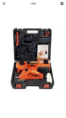 MarchInn 12V DC 5.0T(11000lb) Electric Hydraulic Floor Jack and Tire Inflator...