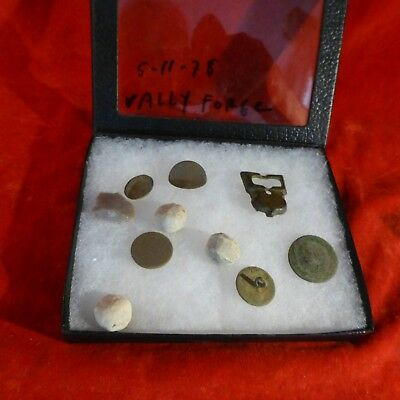 Rare Revolutionary War Valley Forge Found In 1978 Relics , Bullets, Buttons Etc