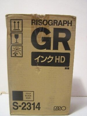 2 Risograph Riso S-2314 HD Black Ink Tubes GR 3770 Pack of 2 High Density New