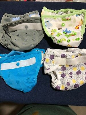 Thirsties And Happy Flute Newborn Cloth Diaper Covers GUC Lot Of 4
