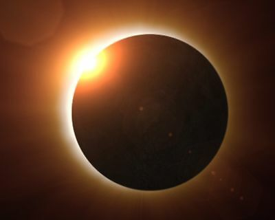 Total Eclipse Of The Sun Behind Moon August 21 8x10 Quality Photo Print
