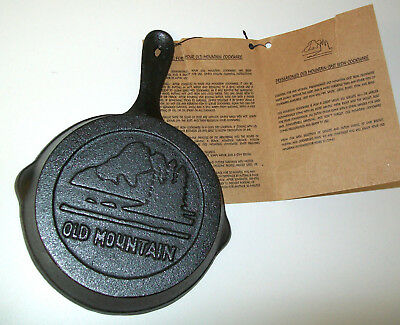 NEW Old Mountain Cast Iron Skillet Frying Pan Mini 4.6 x 6.4 One Egg Wall Decor