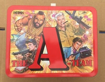 1983 The A-Team Metal Lunch Box with Thermos. GREAT CONDITION  MUST SEE