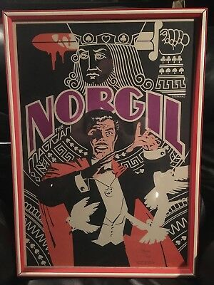 Norgil The Magician Poster Signed Autographed By Walter Gibson 1977 The Shadow