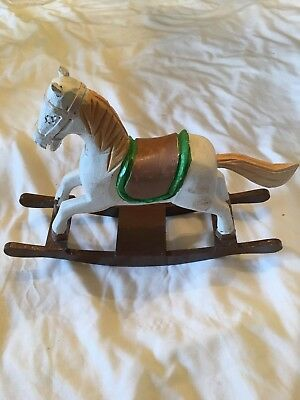Wooden Hand Carved Painted Rocking Horse