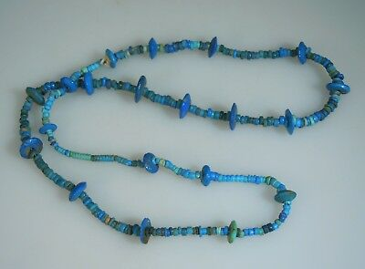 Ancient Egyptian Turquoise Faience Bead Necklace       52922