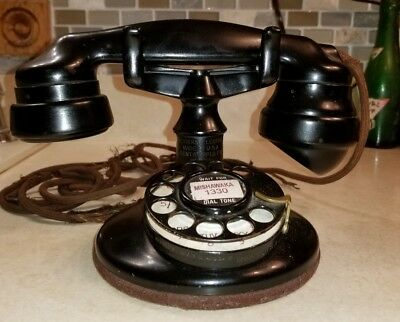 Rare Western Electric 2 AB Dial Tall Stem Telephone