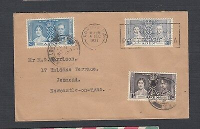 Stamps Nice 1937 Aden Camp First Day Registered Postal Cover To Glasgow Aden (until 1967) Ref218 For Fast Shipping