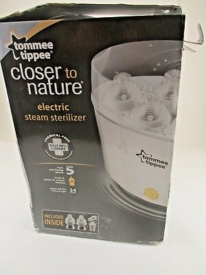 Tommee Tippee  Closer To Nature Electric Baby Bottle Sterilizer  Mint In Box