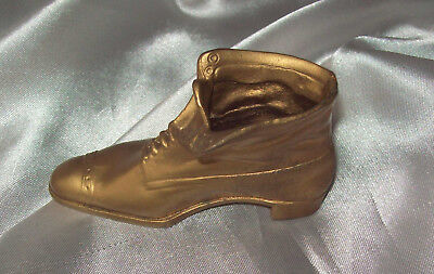 Jenning Brothers  Gold Tone Metal Victorian Boot JB on the Sole 1940's Era