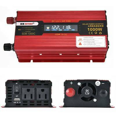 Car 2000W/4000W Power Inverter DC 12V to AC 110V Converter Invertor Electronic