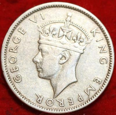 1943-S Fiji One Silver Shilling Foreign Coin