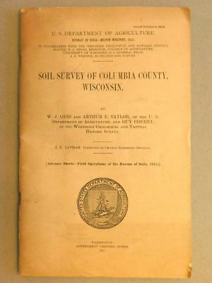 1913 Soil Survey Columbia Co Wisconsin USDA Color Soil Map Sf5-2
