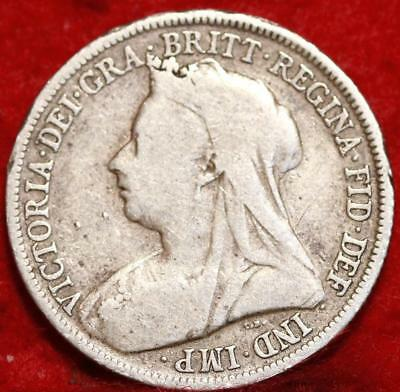 1899 Great Britain Shilling Silver Foreign Coin
