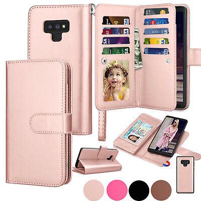 For Samsung Galaxy Note 9 /S10 /S8 /S9 Plus Leather Wallet Case Flip Stand Cover