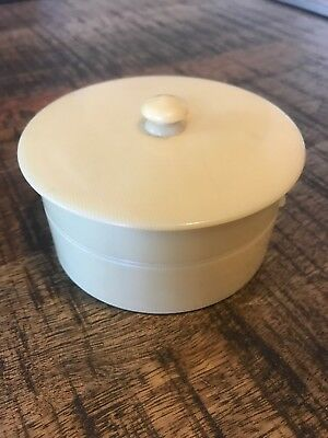 Vintage French Ivory Celluloid Round Shaving Canister