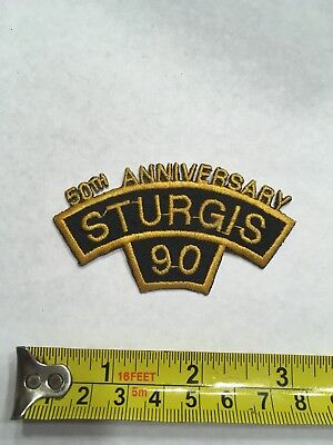 Sturgis 90 Motorcycle Rally Patch - 50th Anniversary- Free Shipping