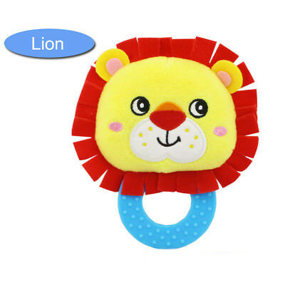 Baby Rattles Hand Bell Toddler Infant Rings Interactive Cute Animal Plush Toy C3