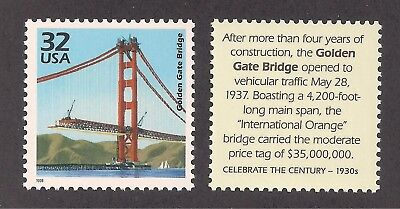 1937 - Golden Gate Bridge Completed - San Francisco, Ca - U.s. Postage Stamp