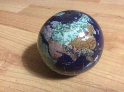 World Globe With Stone Inlay.