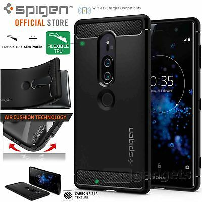 low priced 45ac1 2b099 XPERIA XZ2 COMPACT Case, Genuine SPIGEN Rugged Armor Ultra Soft ...