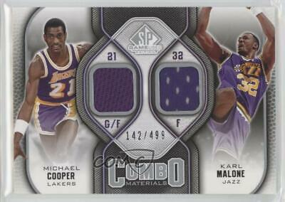 c4da1ecb5 2009-10 SP Game Used Combo Materials  CM-MC Michael Cooper Karl Malone