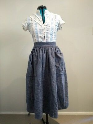 70's vintage skirt, poly/wool, 65 waist, clock house, great condition
