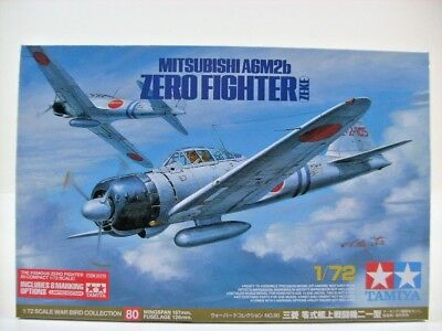 Tamiya 1:72 Mitsubishi A6M2b Zero Fighter ZEKE Limited War Bird Collection 80