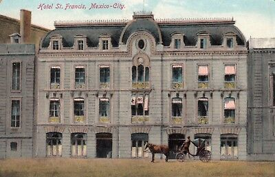 OLD POST CARD carte postale ancienne MEXIQUE MEXICO hotel st francis 1922