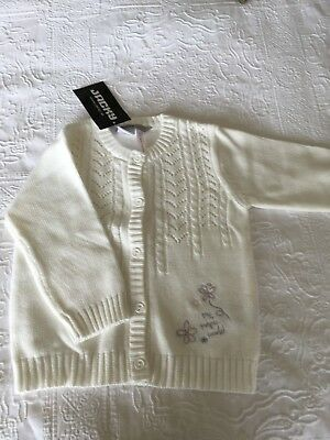 NEW JACKY Baby Cream Knitted Cardigan 6-12 months
