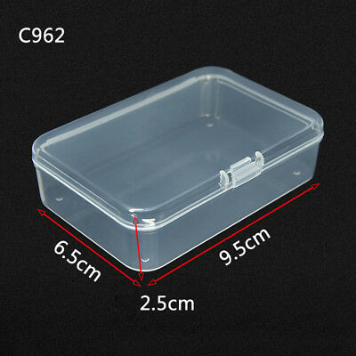 1*clear Storage Box Playing Cards Case Business Card Holder Card Mini Box useful