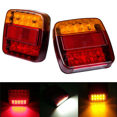 12V Pair Truck Trailer Boat LED Stop Indicator Waterproof  Rear Tail Brake Light