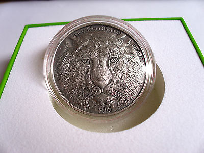 "2014 CFA""Lion/Löwe""+1000Francs+Antique Finish+999 Silber+Bukkina Faso+750 Stück!"