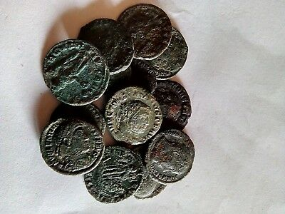 61.Roman Bronze Coins,Lot of 14 pieces,VF