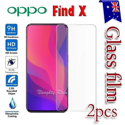 2x Premium Tempered Glass LCD Screen Protector Film Guard for Oppo Find X