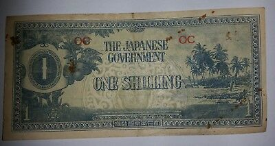 Japanese Occupation Money - One Shilling OC Oceania (a)