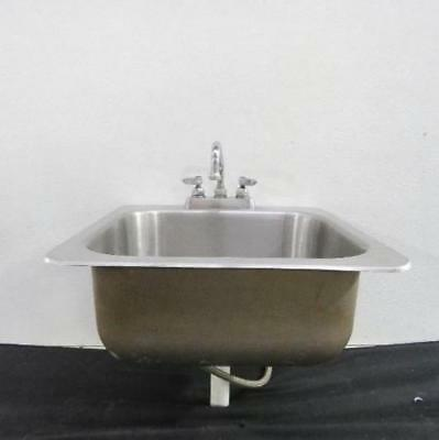 Advance Tabco 19 x 19 Stainless Steel Drop In Hand Sink w/ Faucet wash bowl