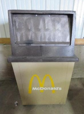 MCDONALD'S OUTDOOR TRASH CAN 27x25x44 mcdonalds receptacle garbage commercial