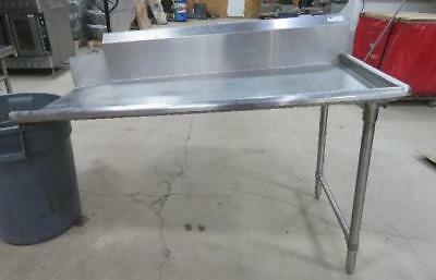30 x 60 STAINLESS STEEL RIGHT SIDE CLEAN DISH TABLE