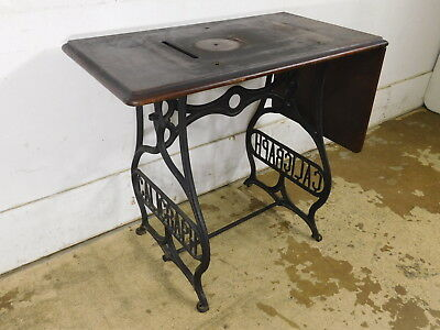 RARE 1880s Antique Cast Iron Caligraph Typewriter Table - Peter Weil Collection