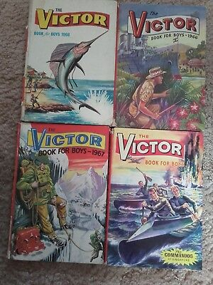4 x The Victor Book for Boys, 1965 to 1968