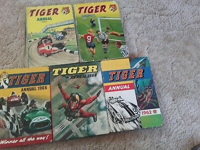 FIVE TIGER ANNUALS, 1957 to 1968