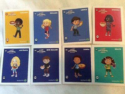 Woolworths World Explorers Stickers YOU CHOOSE from 25, 28, 33, 41, 44, 46,51