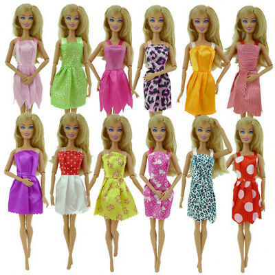 10Pcs/Set Cute Doll Girl Toy Handmade Fashion Party Clothes Dresses Outfit