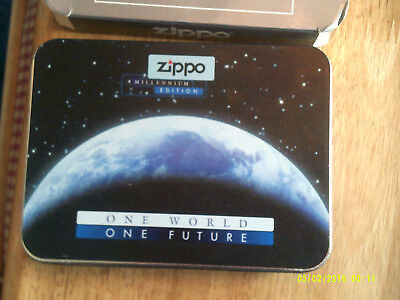 Zippo 1999 Millennium Limited Edition (100,000 made) + booklet and outer cover