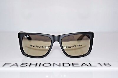 907d50cd7 New Ray-Ban Small Justin Black Gold Mirrored RB4165 622/5A 51mm Sunglasses